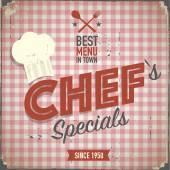 Vintage chefs specials poster — Stock Vector