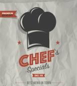 Restaurant cafe bar chef's specials — Stock Vector