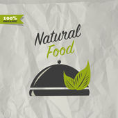 Natural food design — Stock Vector