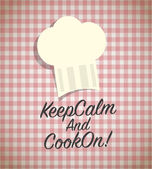 Keep calm and cook on — Stock Vector