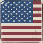 American Us flag vintage background — Cтоковый вектор