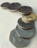 British pound coins — Stock Photo