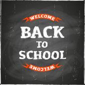 Volta ao quadro de escola — Vetor de Stock