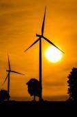 Větrná turbína — Stock fotografie
