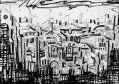 Kühne silhouette der stadt — Stockfoto