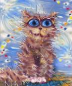 Striped cat dreams — Stock Photo