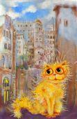 Golden Genoa Cat — Foto Stock