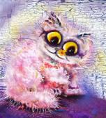 Růžová kočka — ストック写真