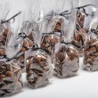 Group of Christmas chocolate truffle bags in a row — Stock Photo #61406801