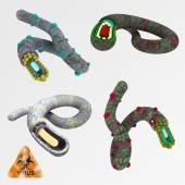 Colorful illustration set of viruses 2 — Stock Photo