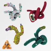 Colorful illustration set of viruses 1 — Stock Photo