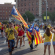 People manifesting independence during the National Day of Catalonia — Stock Photo #53331855