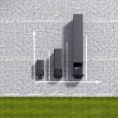 Business Logistic transportation black service graphs illustrati — Stock Photo