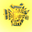 Spooky Halloween Party suny poster template letters 3d — Stock Photo #55522121