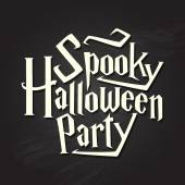 Spooky halloween party quote on chalkboard  — Stock Vector