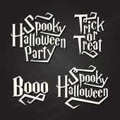 Halloween quotes on chalkboard — Stock Vector