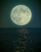 Halloween full moon under the see — Stock Photo