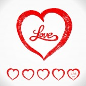 Love heart set — Stock Vector