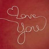 Twine yarn Love You — Stock Photo