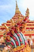 Serpent in Phra Mahathat Kaen Nakhon — Foto Stock