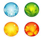 Interface buttons season — Stock Vector