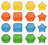 Buttons shapes set — Stock Vector