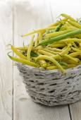 Yellow and green beans — Stock Photo