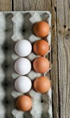 Eggs in formwork — Stock Photo