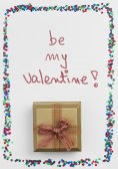 Happy Valentine's Day gift box — Stock Photo