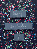 Happy birthday handwritten card — Stock Photo