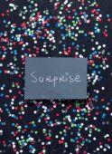 """Surprise"" handwritten text — Stock Photo"