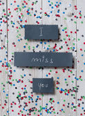 """I miss you"" handwritten card — Stock Photo"