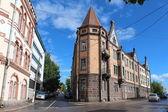 Auf den straßen von alten wyborg. architektur. — Stockfoto