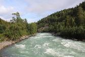 Svalövs floden nära Sjoa kajak lägret. Norge. — Stockfoto