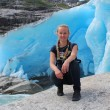 Young woman on the Nigardsbreen, glacier in Norway. — Stock Photo #62102011