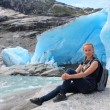 Young woman on the Nigardsbreen, glacier in Norway. — Stock Photo #62102227