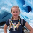 Young woman on the Nigardsbreen, glacier in Norway. — Stock Photo #62102291