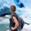Young woman on the Nigardsbreen, glacier in Norway. — Stock Photo #62102307