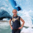 Young woman on the Nigardsbreen, glacier in Norway. — Stock Photo #62109077