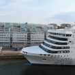 Ferry Victoria by Silja Line company in the Stockholm port. — Stock fotografie #63057629
