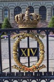 Blazon on the Swedish Royal Palace. — Stock Photo