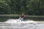 Action Photo Man on jetski. — Stockfoto
