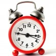 Red alarm clock with white dial — Foto Stock #64997951