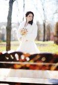 Проведение свадьбы букет невесты — Стоковое фото