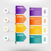 Modern infographics element — Vecteur