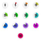 Set of simple timers, clocks — Stok Vektör