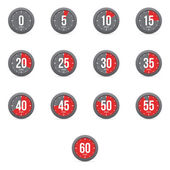 Set of simple timers — Stock Vector