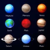Planets of Solar System — Stock Vector