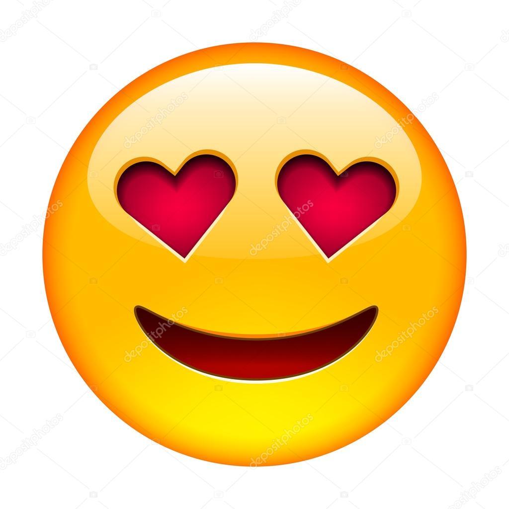 Smile in love emoticon — Stock Vector © ober-art #89303062