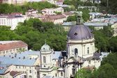 View of Dominican cathedral in Lviv — Stock Photo